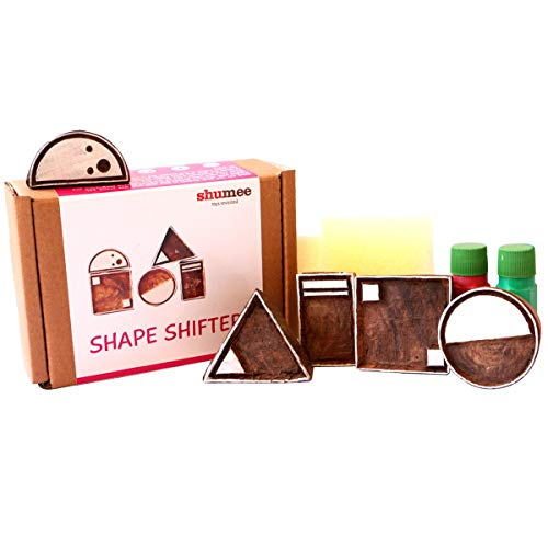 Shumee Wooden Shape Shifter Stamp Set - Sparks Imagination (3years+) ()