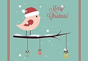 """Christmas Birds Welcome Door Mat 18""""x26"""""""
