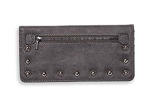 Mona B Vegan Leather Ginny Wallet - Raven