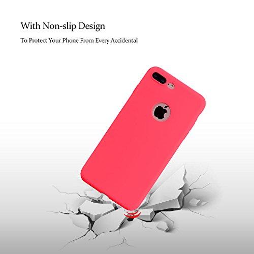 Weiche Hülle für iPhone 7 PLUS, AllDo TPU Silikon Schutzhülle Schlanke Flexibel Etui Ultra Dünne Glatte Schale Leichte Schutzhülle Soft Flexible Case Cover Einfarbig Hülle Einfaches Entwurf Handyhülle