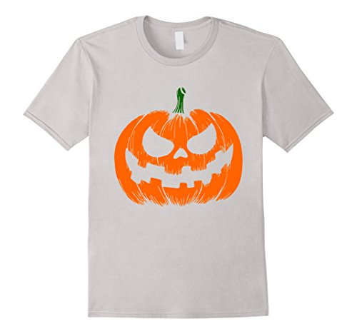 Mens Scary Face Halloween Costume T-Shirt - Funny Halloween Shirt Small Silver