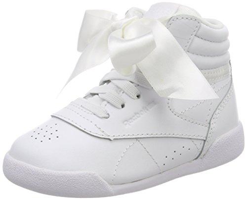 Reebok Mädchen Freestyle Hi Satin Bow Gymnastikschuhe Elfenbein (Whiteskull Grey)