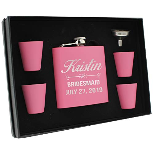 Pink Glass Gift Set