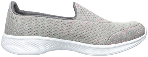 Gris rose 4 Go Basses Femme Skechers Walk Kindle wY4Zc6q