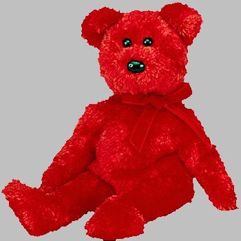 58667b42ced TY Sizzle the Red Bear Beanie Baby  Amazon.co.uk  Toys   Games