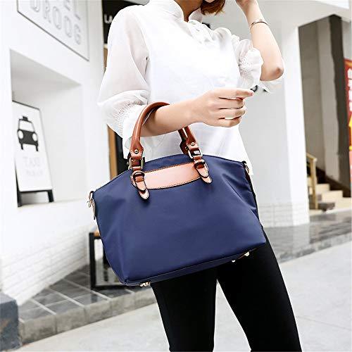Ahda Apariencia Elegante De Mujer bolso 2 Pu Material Bandolera Juegos Blue Bolso rqwgT4r