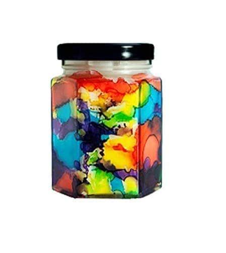 amazon com gay pride rainbow candle soy handmade