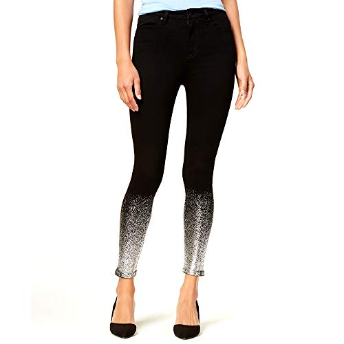 Celebrity Pink Womens Juniors Denim Shimmer Skinny Jeans Black 5