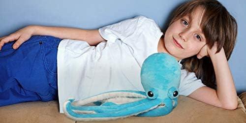 Ice King Bear Cute Big Eyes Octopus Large Stuffed Animals Plush Toy 22 Inches (Blue)