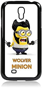 Wolver Minion- Hard Black Plastic Snap - On Case with Soft Black Rubber Lining-Galaxy s4 i9500 - Great Quality!