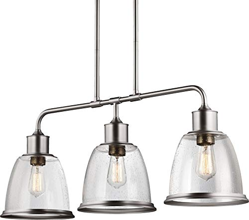 Feiss F3019/3SN Hobson Island Chandelier Lighting, Satin Nickel, 3-Light (36