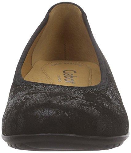Flats Black Women's Comfort Gabor Ballet w8qvw7n1