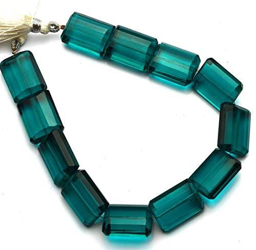 KALISA GEMS Beads Gemstone 1 Strand Apatite Color Hydro Quartz Facet 14x18MM Approx. Nugget Shape Beads 9