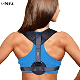 Posture Corrector for Women & Men - Adjustable Posture Brace for Clavicle Support and Upper Back Correction + free eBook by GlamyKings