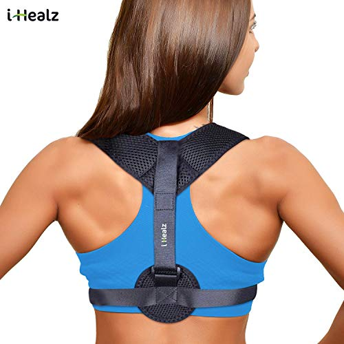 (i-Healz Posture Corrector for Women & Men, Effective and Comfortable Posture Brace | Provides Clavicle Support and Pain Relief for Neck, Back & Shoulder)