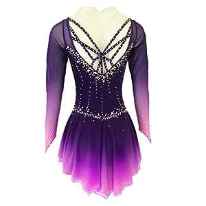 Vestidos de Competición de la Falda Spandex púrpura Vestido ...