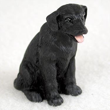 Labrador Retriever Miniature Dog Figurine - Black