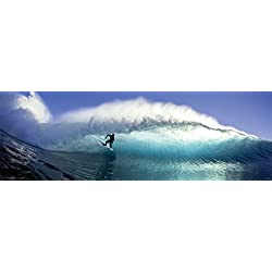Surfer on the Wave Surfing Decorative Summer Water Sports Poster Print, Unframed 11.75x36