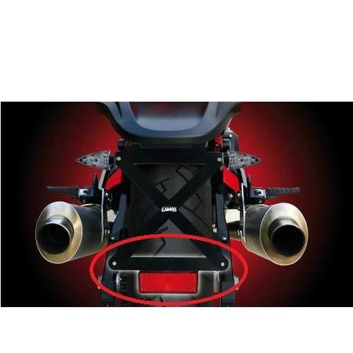 TARGA+CATARIFRANGENTE+LUCE TARGA LAMPA 4 ARTICOLI UNIVERSALI TUTTI OMOLOGATI COMPATIBILE CON KTM 690 DUKE KIT PER MOTO PORTATARGA SPORTIVO+SUPPORTO CATAR