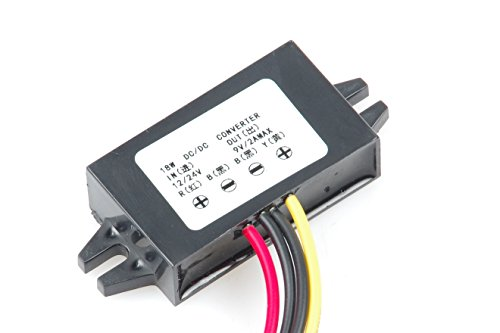 KNACRO DC-DC Convert 12V 12V- 24V to 9V MAX 2A 18W Step-down power supply module Power converter module Synchronous buck With Reverse connection ()