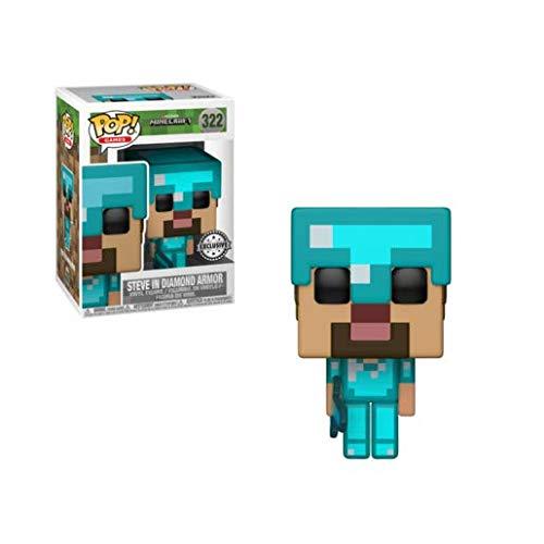 Funko POP! Games: Minecraft - Steve in Diamond Armor Exclusive (Diamond Steve)