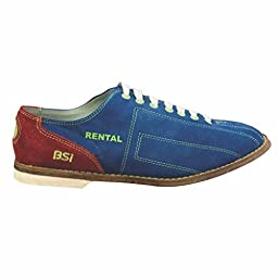 BSI Womens Suede Cosmic Rental Bowling Shoes- Laces (8 M US, Red/Blue)