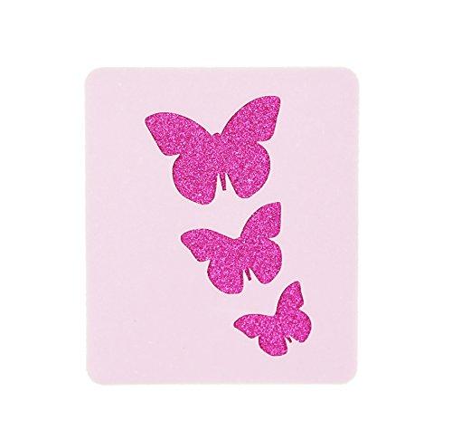 - 3 Butterflies Face Painting Stencil 6cm x 7cm 190micron Washable Reusable Mylar