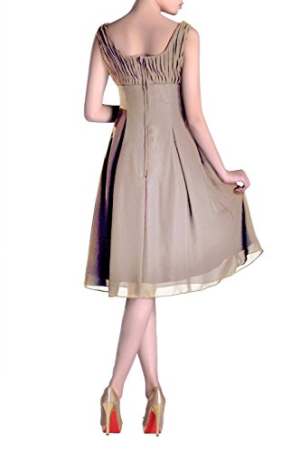 Pleated champagnerfarben Mother Knee Formal Bridesmaid Occasion the Length Dress of Brides Special aInwA