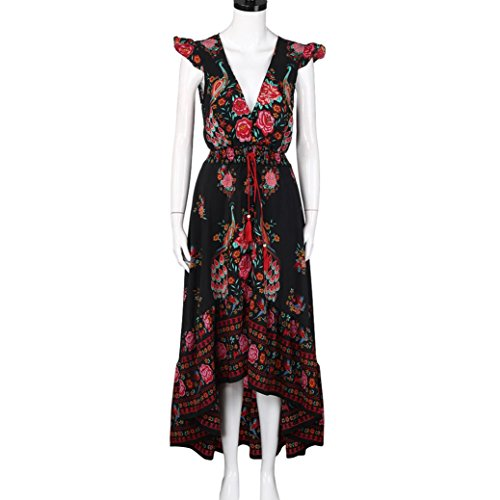 Robe LILICAT Femmes Rétro Palace impression V-Neck tenue décontractée