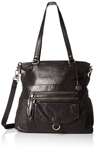 The Cross Body Convertible Black Tote Foldover Bag Sak Venata 4XqwH4r