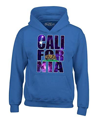 shop4ever California Galaxy Hoodie Unisex California Sweatshirts (Small, Royal Blue)