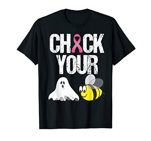 Check Your Boo Bees Shirt Funny Breast Cancer Halloween Gift T-Shirt