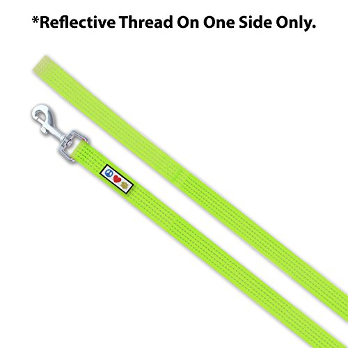 Image of Pawtitas Pet / Puppy 6 - feet Reflective Dog Leash Extra Small / Small 5/8 inch Green Matching Collar and Harness sold separately.
