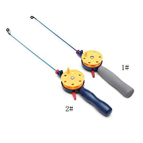 Pink Lizard Mini Ice Fishing Rod With Fishing Reel Ultra-light