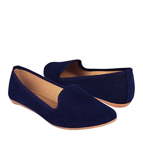 STYLO Zapatos 1905 Suede Azul 25