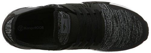 KangaROOS W-500 - Tobillo bajo Hombre Schwarz (Jet Black/Steel Grey)
