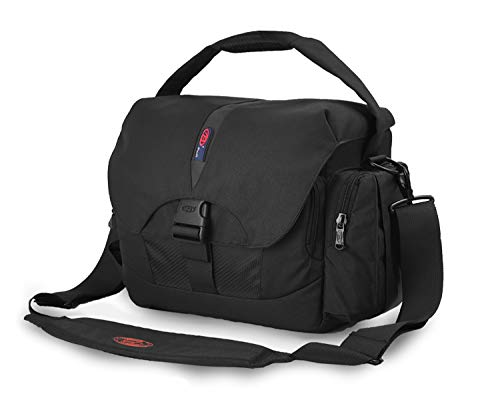 BPAULL Waterproof Camera Bag Large DSLR Camera Shoulder Bag with Laptop Compartment Rain Cover Outdoor Travel Camera Bag Case for Nikon Canon Sony DSLR Mirrorless Cameras,Lens,Tripod and Accessories