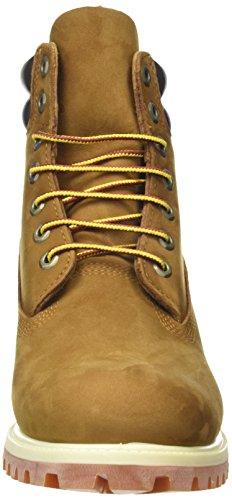 Timberland Mens Premium Double Sole Waterproof Construction Work Boot Double Collar Rust Brown PeQU3