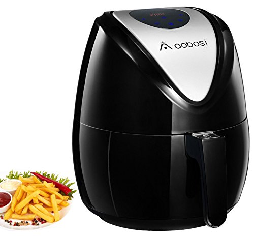 Aobosi Digital Air Fryer Oil Free Hot Airfryer LED Touch Screen Multifunctional Programmable Cooking Set with Free Cookbook Black Review