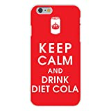 Apple iPhone 6+ (Plus) Custom Case White Plastic Snap On - Keep Calm and Drink Diet Cola w/ Soda Can by Hat Shark