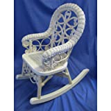 Victorian Child's Cotton Rocking Chair Finish: Whitewash