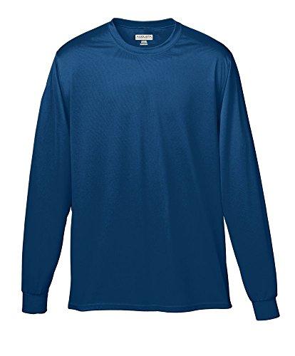 Augusta Athletic Wear - Augusta Sportswear Wicking Long Sleeve T-Shirt, Small, Navy