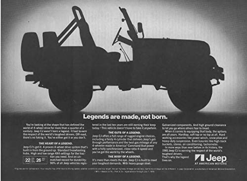 Magazine Print Ad: 1981 Jeep CJ,