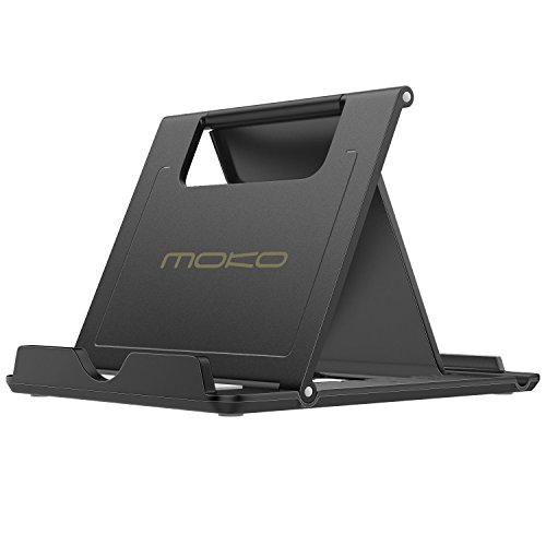 MoKo Phone/Tablet Stand, Foldable Desktop Holder Fit with iPhone 12 Pro Max / 12 Mini, 11 Pro Max, iPhone SE, iPad Pro…
