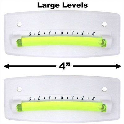 EZ Travel Collection 2-Pack Bubble Graduated Scale Levels Trailer Leveler Large (White) by EZ Travel Collection