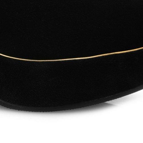 with Women's Toe Suede Purfle Heels Vogue Round PU Gold WeenFashion Platform High Chunky Black Cow Pumps qaC4xww7