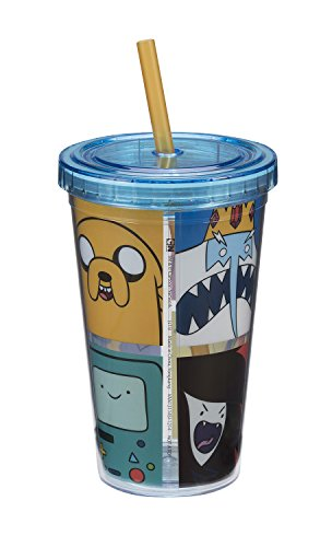 Vandor 13114 Adventure Time Acrylic Travel Cup, 12-Ounce, Multicolored