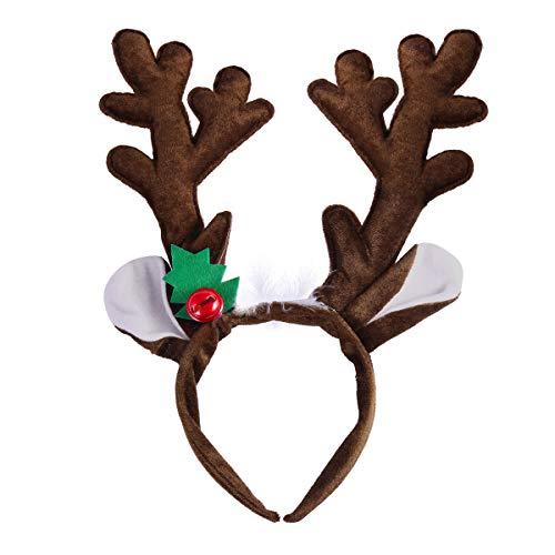 - Pixnor Christmas Reindeer Antlers Headband Adult Kids Hair Hoop for Xmas Easter Party Holiday Costume