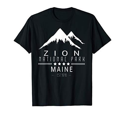 Zion National Park Utah Souvenir Hiking T-Shirt ()