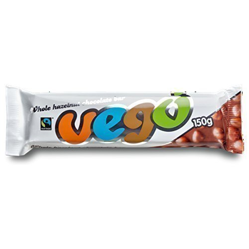 Vego Whole Hazelnut Chocolate Bar 150g (Pack of 15)